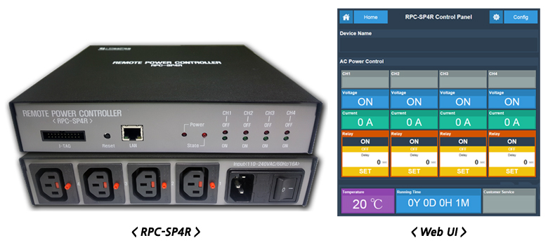 RPC-SP4R product image and control Web UI